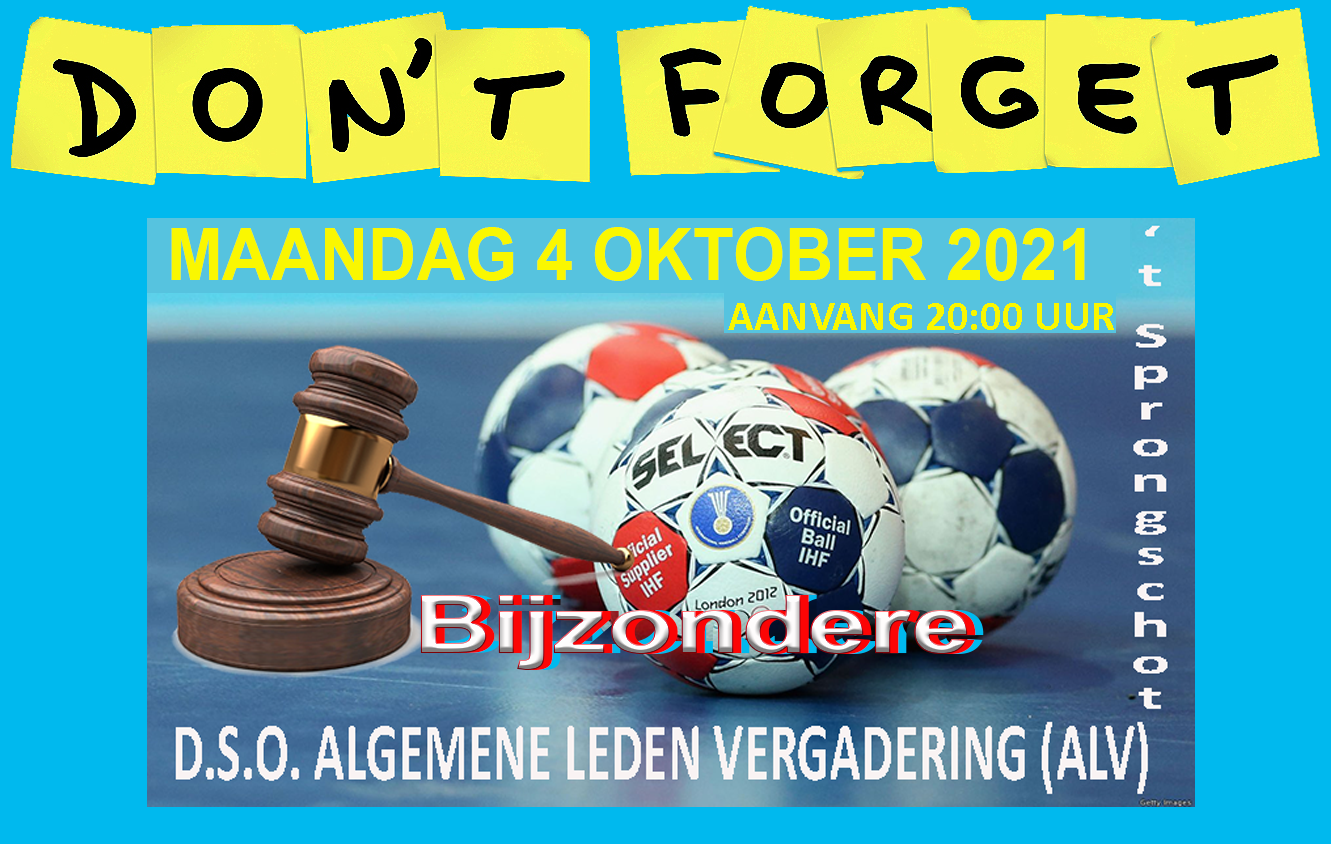 SAVE THE DATE !  -  BIJZONDERE ALV  MA 4 OKTOBER 2021  - 20.00 UUR