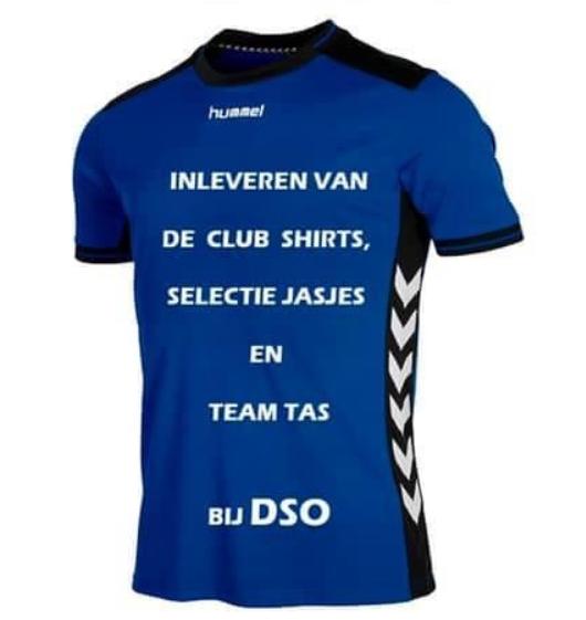 Inleveren DSO teamtassen  einde seizoen