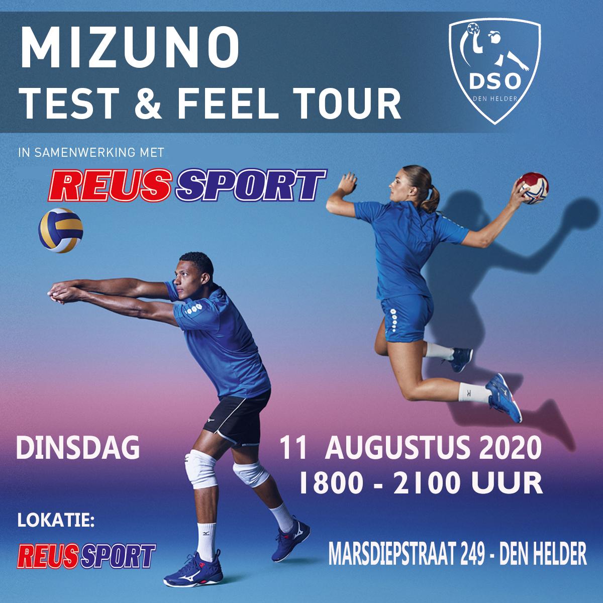 MIZUNO TEST EN FEEL TOUR  DI 11 AUGUSTUS BIJ SPONSOR REUS SPORT