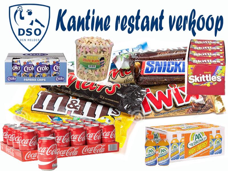 Kantine Restant verkoop seizoen 2019-2020 bij DSO
